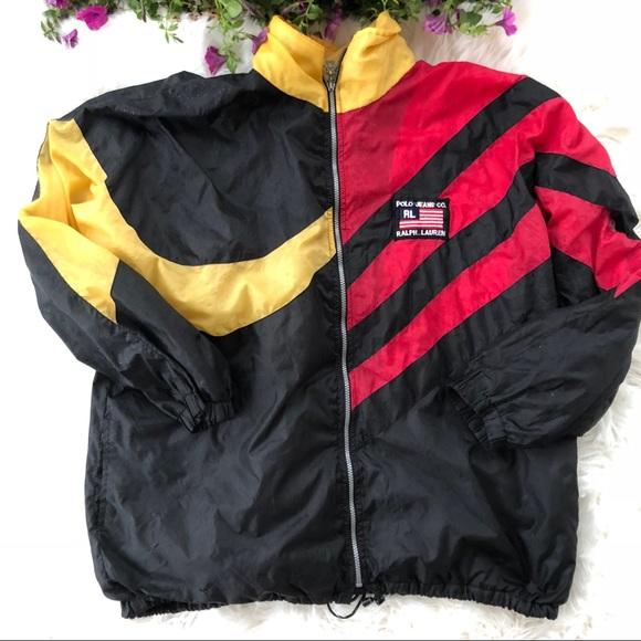 eb7fc01feaf0 Vintage Ralph Lauren Polo Jeans Co Nylon Jacket L.  M_5b5264068ad2f96e7d1d9d60